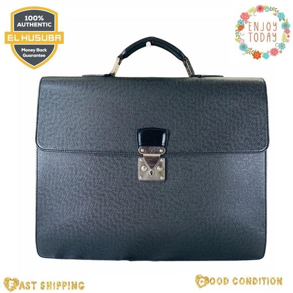 Louis Vuitton business bag moskova black taiga
